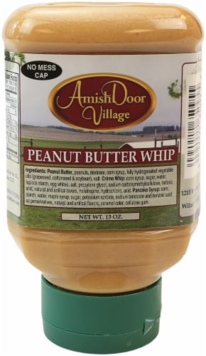 Amish Door Village Homemade Peanut Butter Whip Marshmallow Peanut Butter Spread Perspective: front