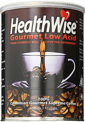 HealthWise  100% Colombian Gourmet Low Acid Supremo Coffee Perspective: front