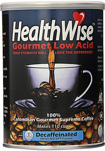 HealthWise  Colombian Gourmet Low Acid Supremo Decaffeinated Coffee Perspective: front