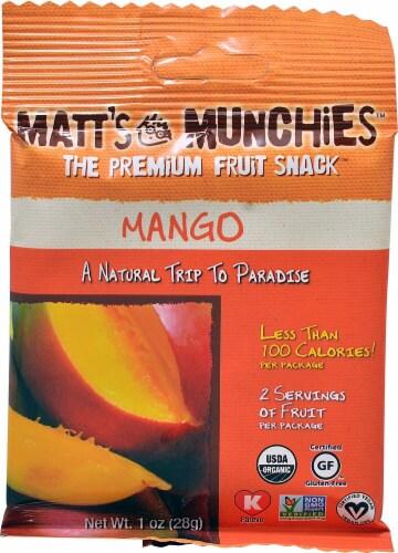 Matt's Munchies Mango Premium Fruit Snacks Perspective: front