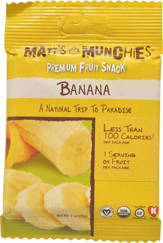 Matt's Munchies Banana Premium Fruit Snacks Perspective: front