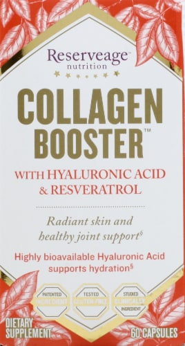 Reserveage Nutrition Collagen Booster Capsules Perspective: front