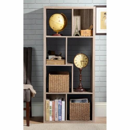 Design Mode SHE-EU-LI7ZH 7 Compartment BookCase Room Divider Perspective: front