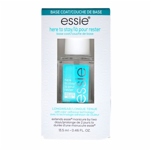 Essie Here To Stay Longwear Base Coat Nail Polish Perspective: front
