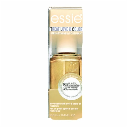 Essie Treat Love & Color Got It Golding On Strengthening Nail Polish Perspective: front