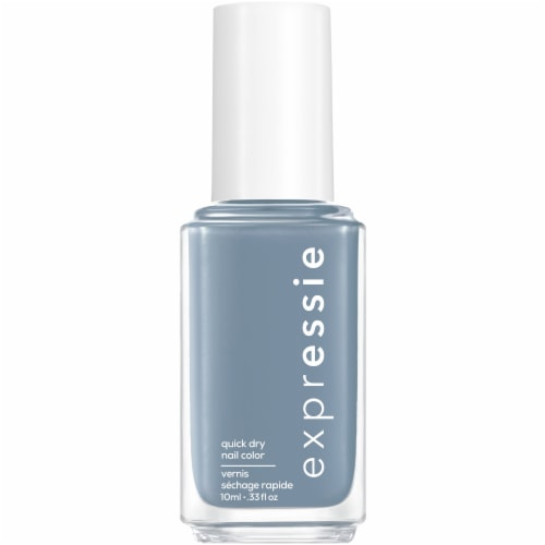 Essie Expressie Quick-Dry Air Dry Nail Polish - Slate Blue Perspective: front