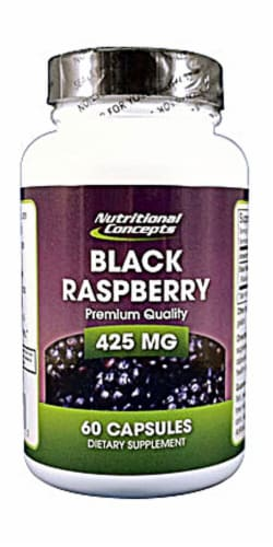 Nutritional Concepts Black Raspberry Capsules 425 mg Perspective: front
