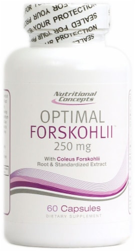 Nutritional Concepts Optimal Forskohlii Capsules 250 mg Perspective: front
