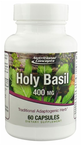 Nutritional Concepts Holy Basil Capsules 400 mg Perspective: front