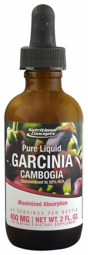 Nutritional Concepts Pure Liquid Garcinia Cambogia Dietary Supplement 400 mg Perspective: front