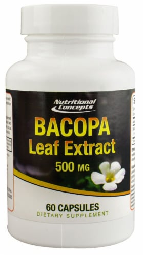 Nutritional Concepts Bacopa Leaf Extract 500 mg Perspective: front