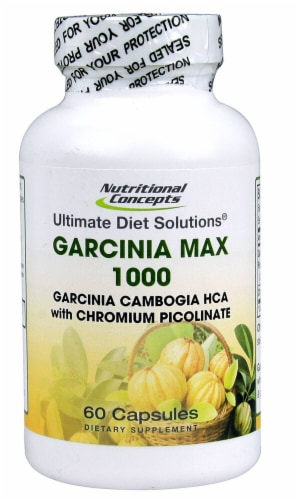 Nutritional Concepts Garcinia Max 1000 Capsules Perspective: front