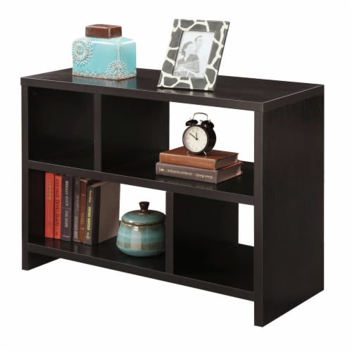 Convenience Concepts Northfield Bookend Console Table in Espresso Wood Finish Perspective: front
