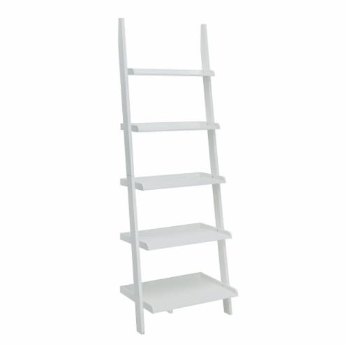 French Country Bookshelf Ladder Perspective: front