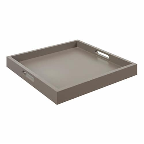 Palm Beach Tray With Gray Finish Perspective: front