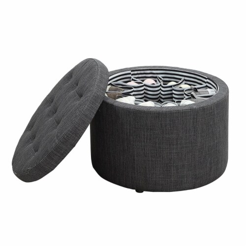 Designs4Comfort Round Shoe Ottoman Perspective: front