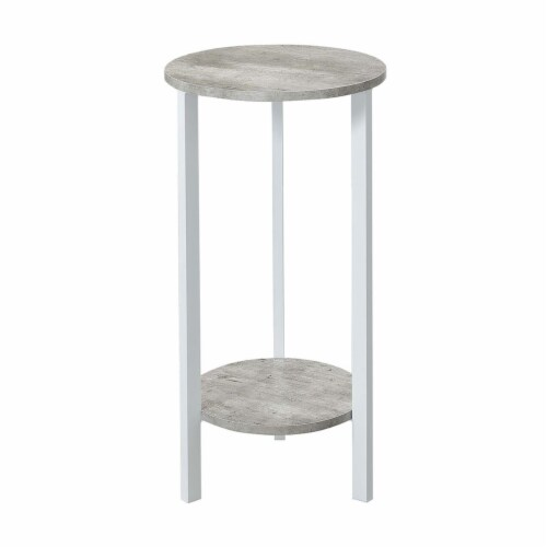 Convenience Concepts 111253C1WF Graystone 31 in. Plant Stand, Faux Birch & White - 31.5 x 15 Perspective: front