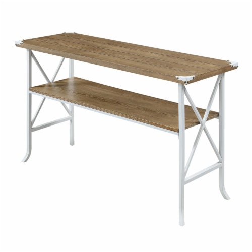 Convenience Concepts Brookline Console Table in Caramel Wood Finish Perspective: front