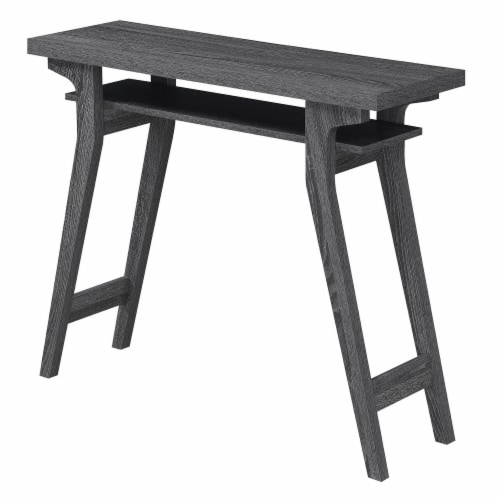 Convenience Concepts Newport Lynda Console Table in Gray Wood Finish Perspective: front