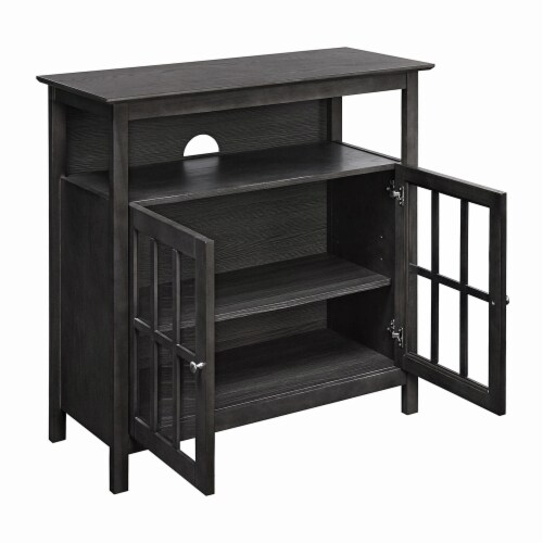 Convenience Concepts Big Sur Highboy 36  TV Stand  in Chocolate Wood Finish Perspective: front