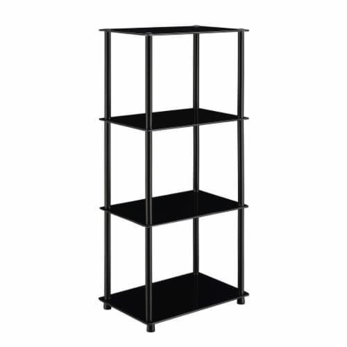Convenience Concepts 157111BLBL Designs2Go Classic Glass 4 Tier Tower, Black Perspective: front