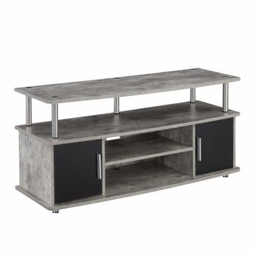 Convenience Concepts Designs2Go Monterey 47  TV Stand in Weathered Gray Wood Perspective: front