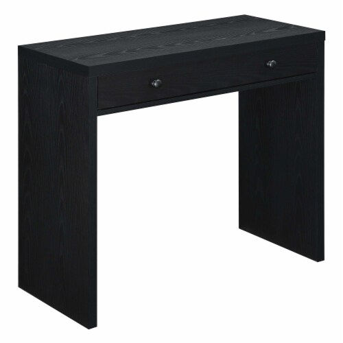 Convenience Concepts Northfield 36-inch Desk with Drawer in Black Wood Finish Perspective: front