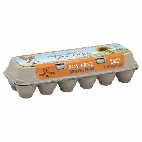 Chino Valley Ranchers Omega-3 Grade AA Soy-Free Large Brown Eggs Perspective: front