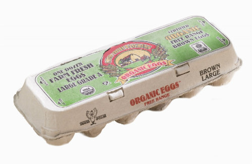 Chino Valley Ranchers Organic Large Brown Eggs Perspective: front