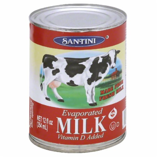 Santini Evaporated Milk Perspective: front