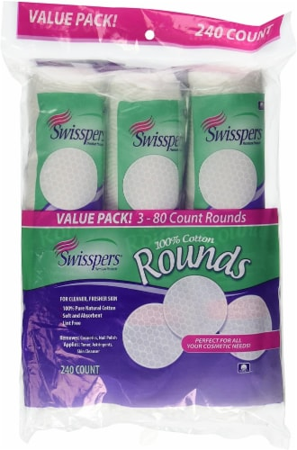 Swisspers 100% Cotton Rounds Value Pack Perspective: front