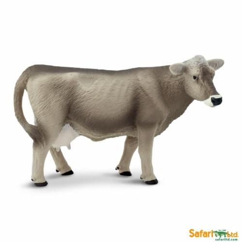 Brown Swiss Cow Wild Safari Farm Figure Safari Ltd Perspective: front