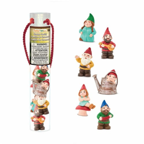 Safari Ltd®  Gnome Family Toy Figurines Perspective: front