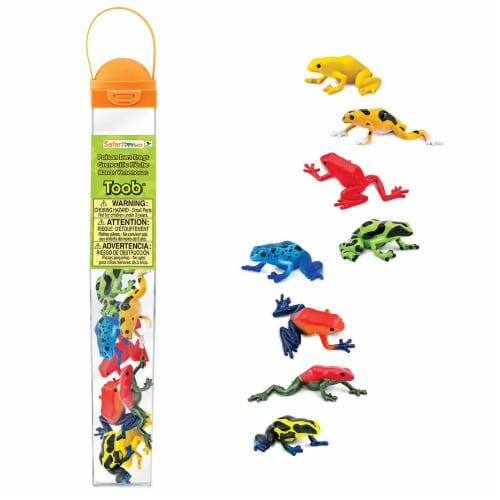 Safari Ltd®  Poison Dart Frogs Toy Figurines Perspective: front