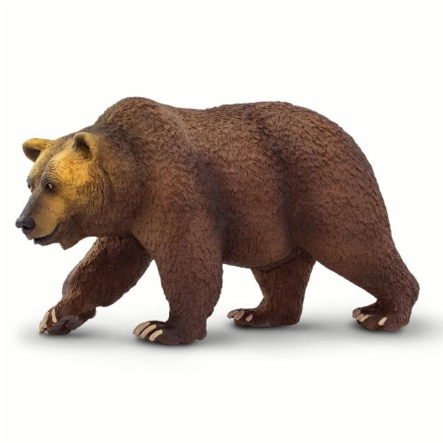 Safari Ltd®  Grizzly Bear Toy Figurines Perspective: front