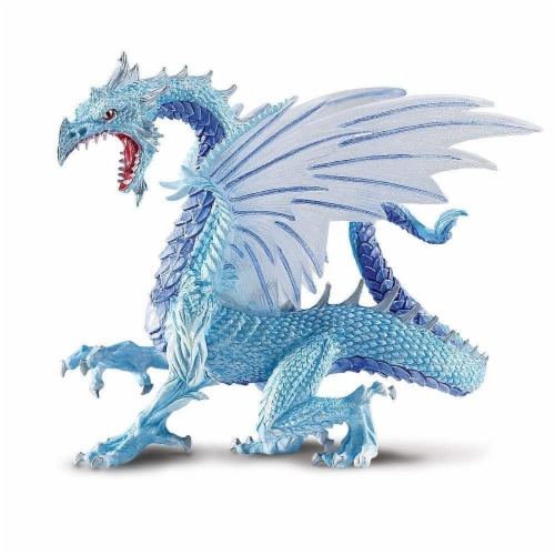 Safari Ltd®  Ice Dragon Toy Figurines Perspective: front