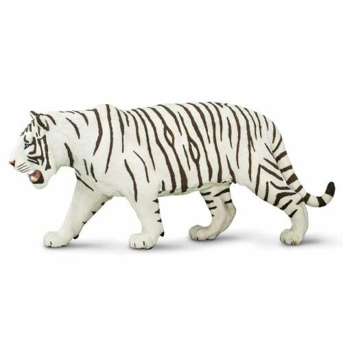 Safari Ltd®  White Siberian Tiger Toy Figurines Perspective: front