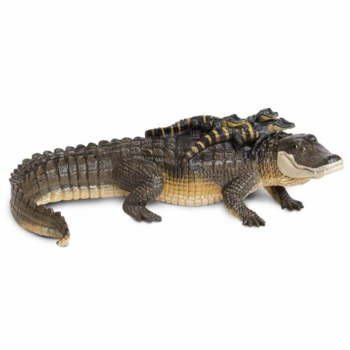 Safari Ltd®  Alligator With Babies Toy Figurines Perspective: front