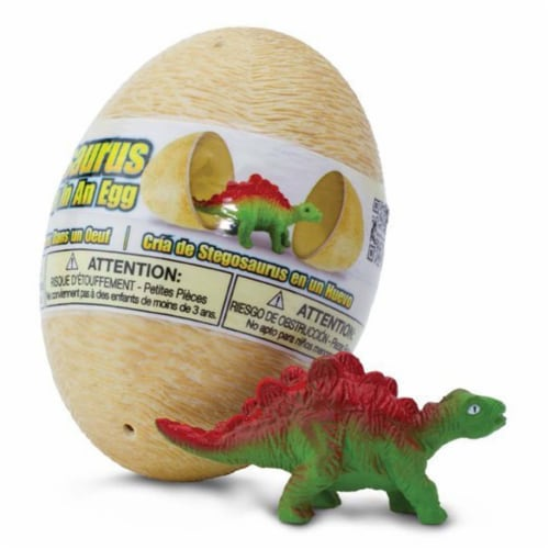 Stegosaurus Baby In An Egg Dinosaur Figure Safari Ltd Perspective: front