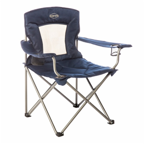 Kamp Rite KAMPCC035 Padded Folding Outdoor Camping Lounge Chair with Mesh Back Perspective: front