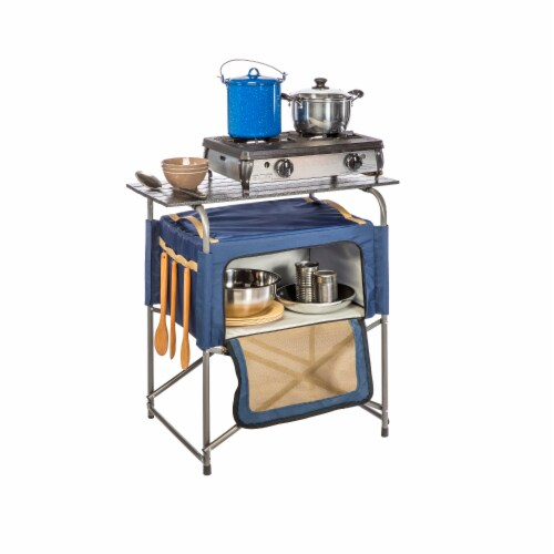 Kamp-Rite KPT171 Kamp-Rite EZ Prep Table with Insulated Bag Perspective: front