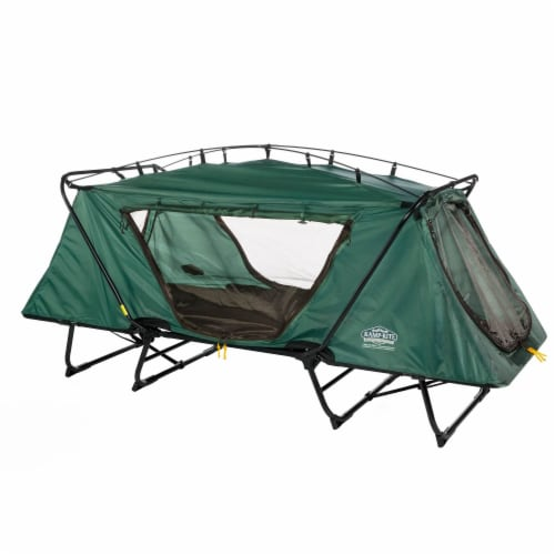 Kamp-Rite Oversize Portable Versatile Cot, Chair, and Tent, Easy Setup, Green Perspective: front