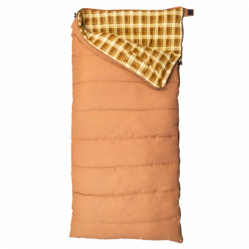 Kamp-Rite 35 x 78 Inch Cotton Canvas Rectangular Sleeping Bag 0 Degree, Khaki Perspective: front
