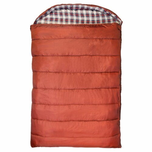 Kamp-Rite 60 x 78 Inch Cotton Double Wide Rectangular Sleeping Bag 20 Degree Perspective: front
