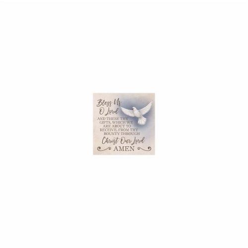 Carson Home Accents 158076 7 in. Squre Trivet-Bless Us Perspective: front