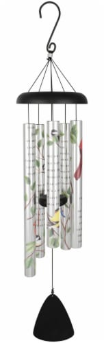 "30"" Silver, Angels' Arms Sonnet Wind Chime Perspective: front"