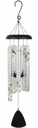 """38"""" A Gift, Picturesque Sonnet Wind Chime Perspective: front"""