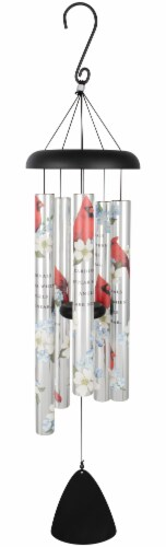 "38"" Cardinals Appear, Picturesque Sonnet Wind Chime Perspective: front"