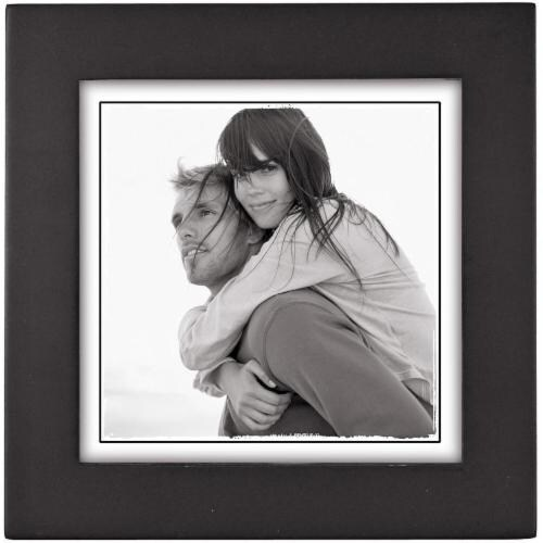 Malden Linear Square Picture Frame - Black Perspective: front