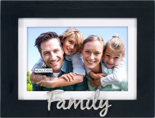 Malden Family Frame with Mat - Black Perspective: front